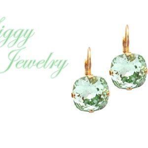Swarovski Crystal Light Green Chrysolite Earrings